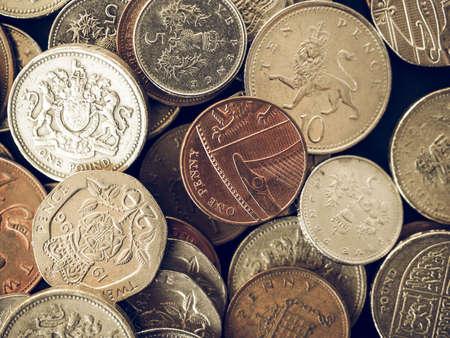 Jahrgang Suchen Britischen Pfund Münzen Des Vereinigten Königreichs