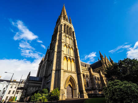 HDR Christ Church in Clifton in Bristol, UK Stock Photo