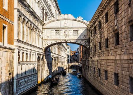 VENICE, ITALY - CIRCA SEPTEMBER 2016: HDR Ponte dei Sospiri (meaning Bridge of Sighs)