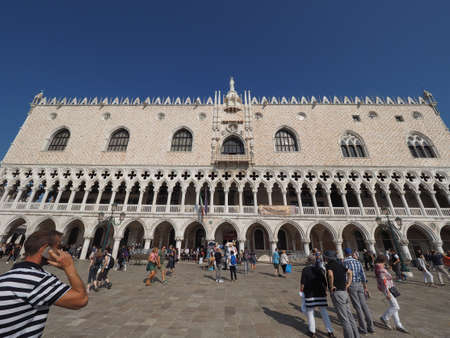 saint mark square: VENICE, ITALY - CIRCA SEPTEMBER 2016: Piazza San Marco (meaning St Mark square)