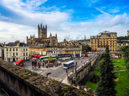 peter the great: BATH, UK - CIRCA SEPTEMBER 2016: HDR The Abbey Church of Saint Peter and Saint Paul (aka Bath Abbey)