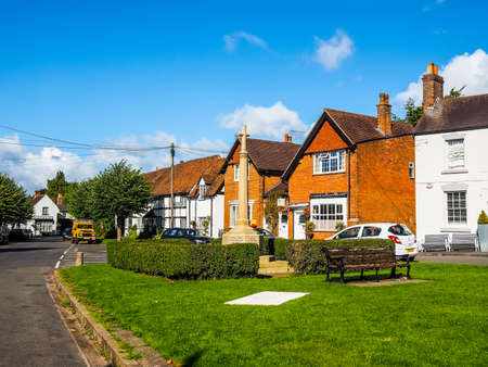 arden: TANWORTH IN ARDEN, UK - SEPTEMBER 25, 2015: The Village Green (HDR) Editorial