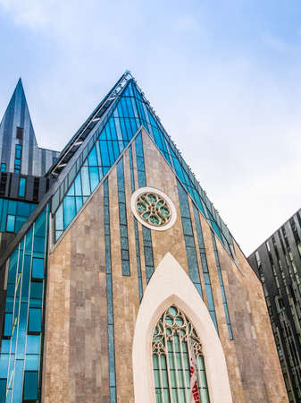 LEIPZIG, GERMANY - JUNE 14, 2014: The new Augusteum is the main Leipzig university building built in 2012 which includes the Paulinum church (HDR) Editorial