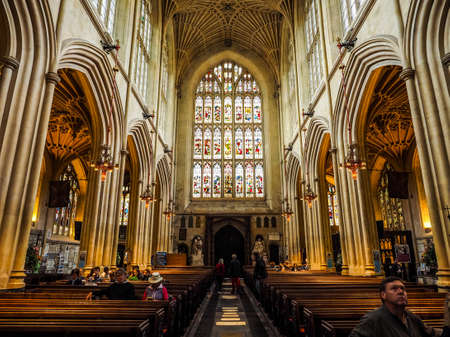 BATH, UK - CIRCA SEPTEMBER 2016: HDR The Abbey Church of Saint Peter and Saint Paul (aka Bath Abbey)