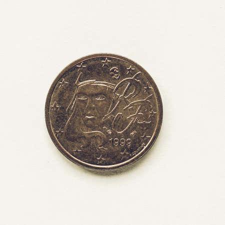 Währung Europa 2 Cent Münze Aus Frankreich Lizenzfreie Fotos Bilder