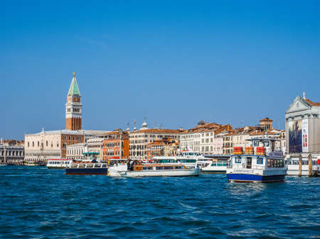 san marco: VENICE, ITALY - CIRCA SEPTEMBER 2016: HDR Piazza San Marco (meaning St Mark square) seen from San Marco basin