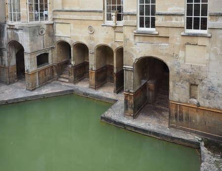 BATH, UK - CIRCA SEPTEMBER 2016: Roman Baths ancient spa