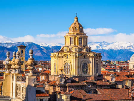 lorenzo: The church of San Lorenzo Turin Italy (HDR) Editorial