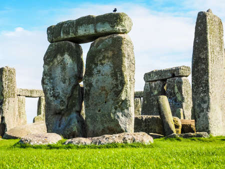 WILTSHIRE, UK - CIRCA SEPTEMBER 2016: HDR Ruins of Stonehenge prehistoric megalithic stone monument