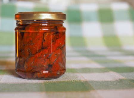 sun dried: Sun dried tomatoes vegetables in a jar