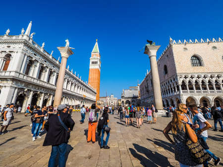 VENICE, ITALY - CIRCA SEPTEMBER 2016: HDR Piazza San Marco (meaning St Mark square) Editorial