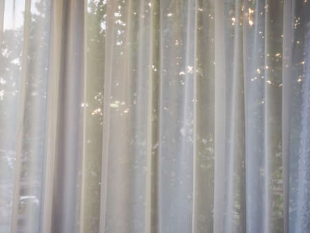 White curtain texture useful as a background Stock Photo