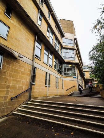 alison: BATH, UK - CIRCA SEPTEMBER 2016: HDR Department of Architecture and Civil Engineering at University of Bath designed by Peter and Alison Smithson architects Editorial