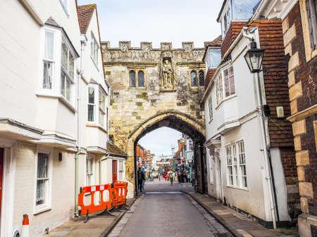 SALISBURY, UK - CIRCA SEPTEMBER 2016: HDR View of the city of Salisbury Editorial