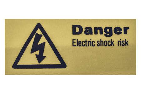 electric shock: mirando muestra del vintage de riesgo de descarga eléctrica por electrocución