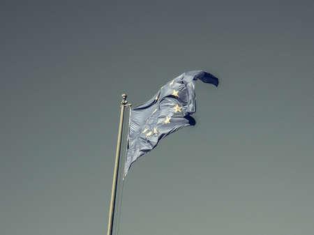 sepia.: Vintage looking The European Union flag of Europe EU