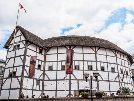 LONDON, UK - JUNE 10, 2015: The Shakespeare Globe Theatre (HDR) Editorial