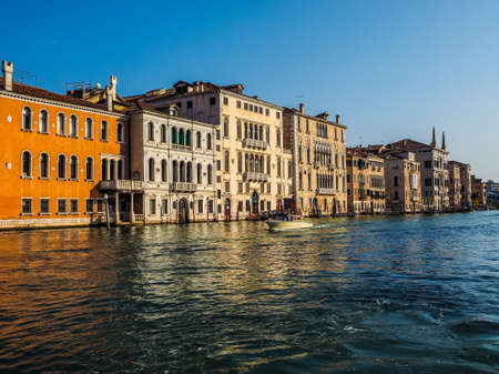 VENICE, ITALY - CIRCA SEPTEMBER 2016: HDR The Canal Grande (meaning Grand Canal)