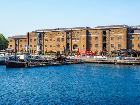 LONDON, UK - JUNE 11, 2015: West India Quay in Docklands (HDR)