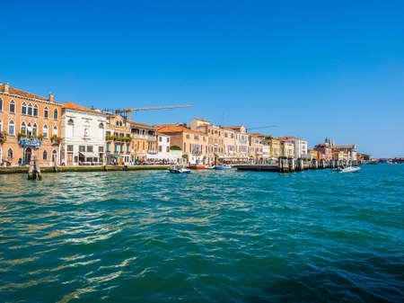 VENICE, ITALY - CIRCA SEPTEMBER 2016: HDR Canale della Giudecca (meaning Giudecca Canal)