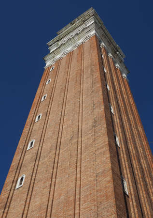 church steeple: Campanile San Marco (meaning St Mark church steeple) in St Mark square in Venice, Italy