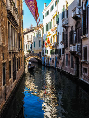 VENICE, ITALY - CIRCA SEPTEMBER 2016: HDR Tourists visiting the city of Venice