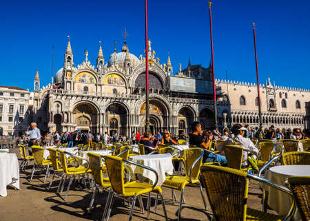 saint mark square: VENICE, ITALY - CIRCA SEPTEMBER 2016: HDR Piazza San Marco (meaning St Mark square) Editorial