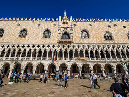 san marco: VENICE, ITALY - CIRCA SEPTEMBER 2016: HDR Piazza San Marco (meaning St Mark square) Editorial