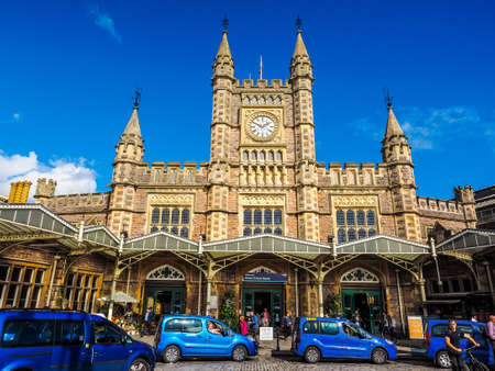 BRISTOL, UK - CIRCA SEPTEMBER 2016: HDR Bristol Temple Meads railway station designed by Brunel in 1840s and extended in 1870s