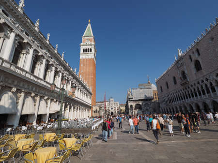 VENICE, ITALY - CIRCA SEPTEMBER 2016: Piazza San Marco (meaning St Mark square)