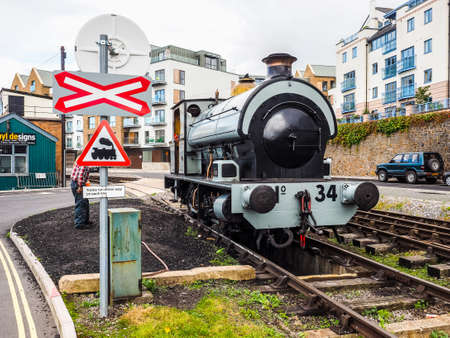 BRISTOL, UK - CIRCA SEPTEMBER 2016: HDR Vintage trains at Bristol Harbour (part of Port of Bristol) Editorial