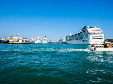 VENICE, ITALY - CIRCA SEPTEMBER 2016: HDR MS MSC Orchestra motor ship Redakční