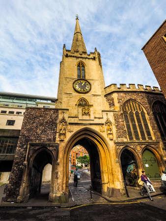 BRISTOL, UK - CIRCA SEPTEMBER 2016: HDR The Great Gatehouse (aka Abbey Gatehouse) Editorial