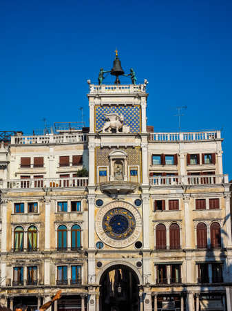 VENICE, ITALY - CIRCA SEPTEMBER 2016: HDR Torre dell Orologio (meaning Clock Tower) in San Marco square