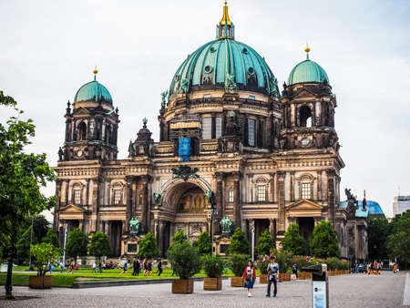 dom: BERLIN, GERMANY - CIRCA JUNE 2016: Berliner Dom meaning Berlin Cathedral church (HDR)