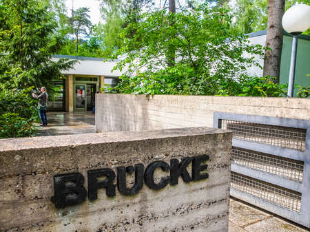 expressionism: BERLIN, GERMANY - MAY 11, 2014: The Bruecke Museum of the Expressionism host the major collection of German expressionist paintings (HDR)
