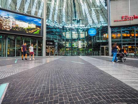 BERLIN, GERMANY - CIRCA JUNE 2016: Sony Center in Potsdamer Platz designed by Helmut Jahn (HDR)