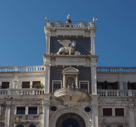 san marco: Torre dell Orologio (meaning Clock Tower) in San Marco square in Venice, Italy