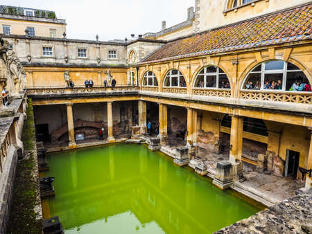 BATH, UK - CIRCA SEPTEMBER 2016: HDR Roman Baths ancient spa Editorial