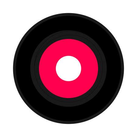 vinyl record: Vinyl record vintage analog music recording medium illustration Stock Photo