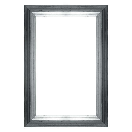 silver frame: Wooden frame silver colour with copy space isolated over white
