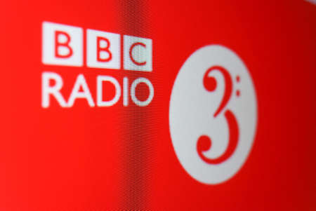 LONDON, UK - CIRCA SEPTEMBER 2016: BBC Radio 3 logo on digital tv freeview red button service