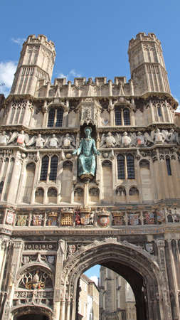 St Augustine Gate in Canterbury England UK