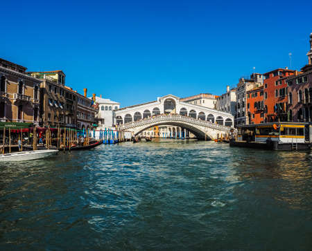rialto: VENICE, ITALY - CIRCA SEPTEMBER 2016: HDR Ponte di Rialto (meaning Rialto Bridge) over the Grand Canal