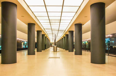 BERLIN, GERMANY - MAY 10, 2014: Brandenburger Tor ubahn subway station (HDR)