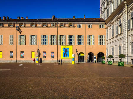 TURIN, ITALY - CIRCA MARCH 2016: Entrance to the Henri Matisse exhibition at Palazzo Chiablese (HDR) Editorial