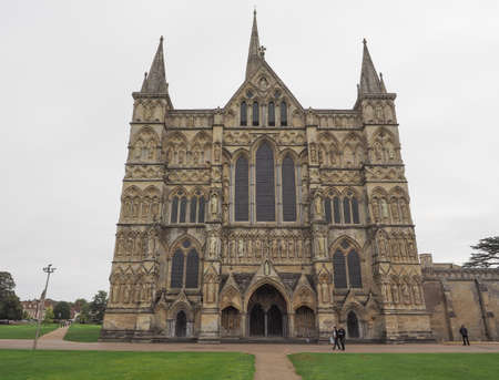 SALISBURY, UK - CIRCA SEPTEMBER 2016: Salisbury Cathedral (aka Cathedral Church of the Blessed Virgin Mary)