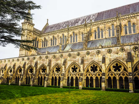 SALISBURY, UK - CIRCA SEPTEMBER 2016: HDR Salisbury Cathedral (aka Cathedral Church of the Blessed Virgin Mary)