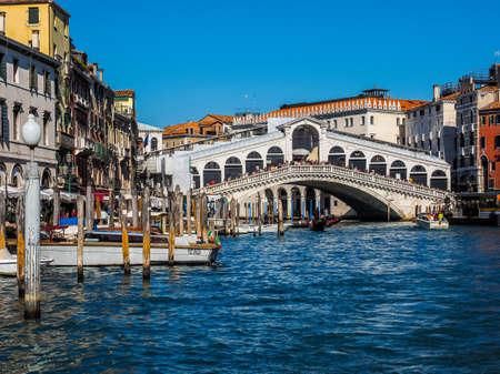 rialto: VENICE, ITALY - CIRCA SEPTEMBER 2016: HDR Ponte di Rialto (meaning Rialto Bridge) over the Grand Canal