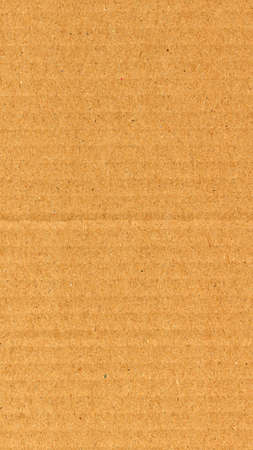 Brown corrugated cardboard useful as a background - vertical Stock Photo